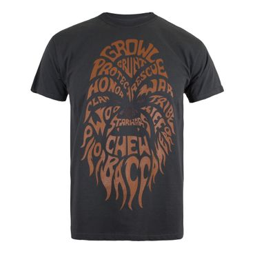Star Wars Chewbacca Text T-Shirt – Bild 1