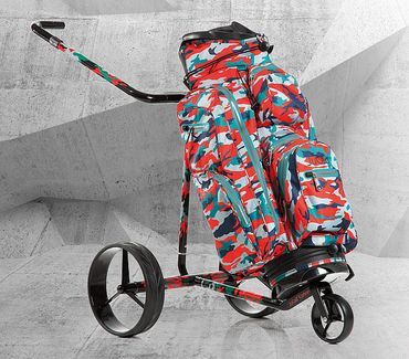 JuCad Camouflage Carbon Travel Elektro Trolley – Bild 3