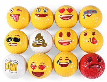 12 Stk. lustige Emoji Golfbälle – Bild 1