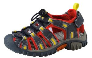 McKINLEY Kinder Outdoor Trekking Sandalen Vapor II Navy Blau Orange Quicklace