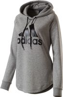 Adidas Must Have Badge of Sport Damen Hoodie Kapuzenpullover Sweater Grau Neu – Bild 1
