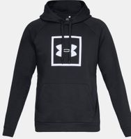 Under Armour Herren Rival Fleece Logo Hoodie Kapuzenpullover Sweater Schwarz Neu – Bild 1