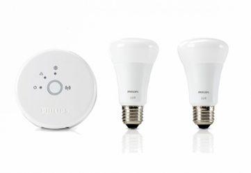 Philips Lux - LED personal wireless lighting - 2 x 9 W, EEK A+, A19 E27 - Starter Kit inklusive hue Bridge