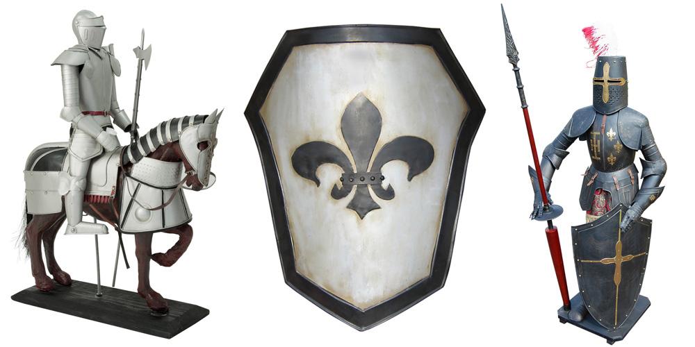 Dekoritter und Ritterrüstungen
