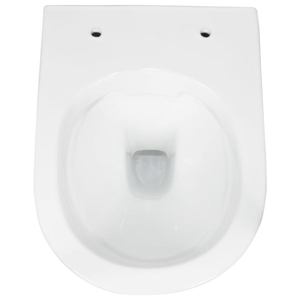 Wall Hung Mounted Toilet Bowl Pan without Rim Bathroom WC Sanlingo – Bild 2
