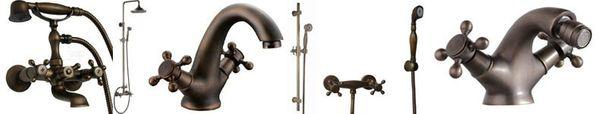 Retro Design Bidet Kreuzgriff Armatur Sanlingo Antik Messing JONA – Bild 4