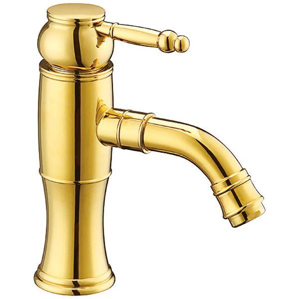 Retro Gold Design Waschbecken Waschschale Waschtisch Einhebel Armatur  Sanlingo