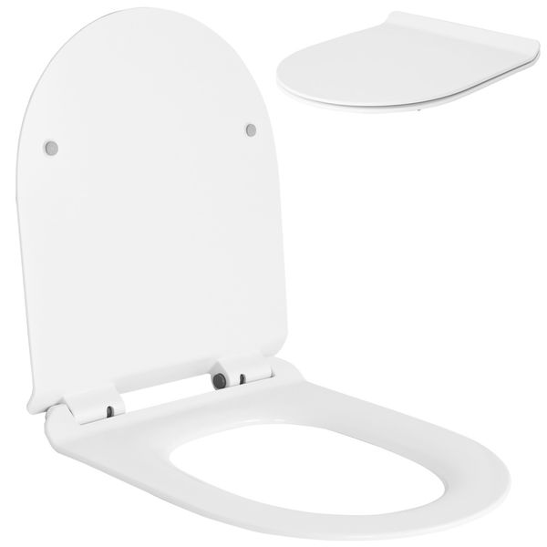 Softclose WC Deckel Toilettendeckel Toilettensitz WC Sitz Klobrille Toilette Sanlingo Rund – Bild 2