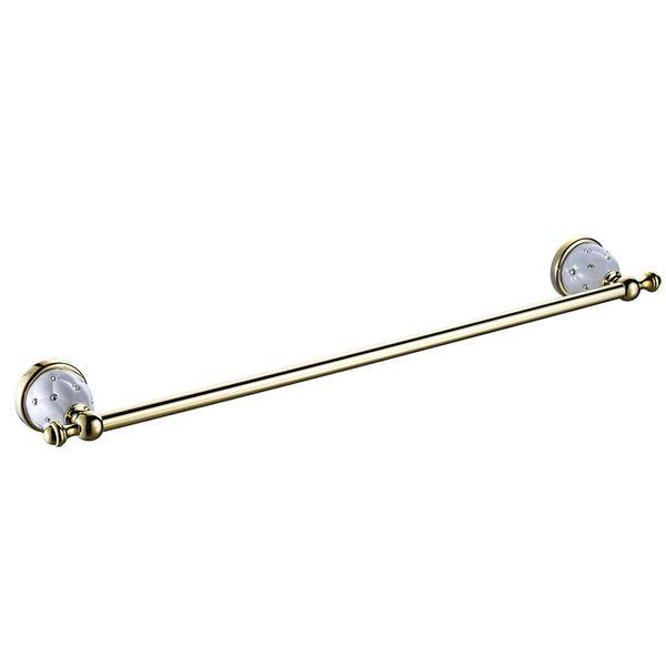 Luxury Bathroom Single Towel Bar Holder Rack Wall Mounting Sanlingo White Gold – Bild 2
