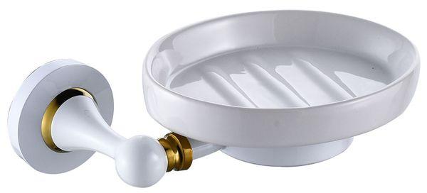 Bad Seifenschale Ablage Seifenablage Keramik Sanlingo Weiß Gold