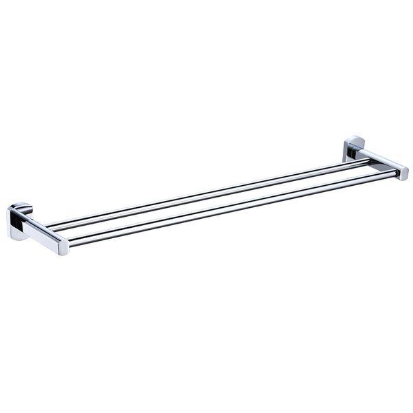 Sanlingo Bathroom Luxury Double Towel Bar Rail Holder Rod Wall Mounting Chrome – Bild 2