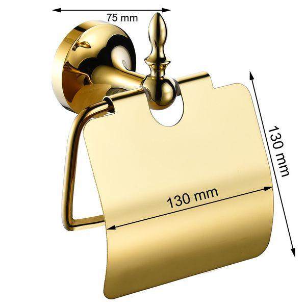 Luxus Toilettenpapierhalter Toilettenpapier Halter Massiv Wandmontage Sanlingo Gold – Bild 2