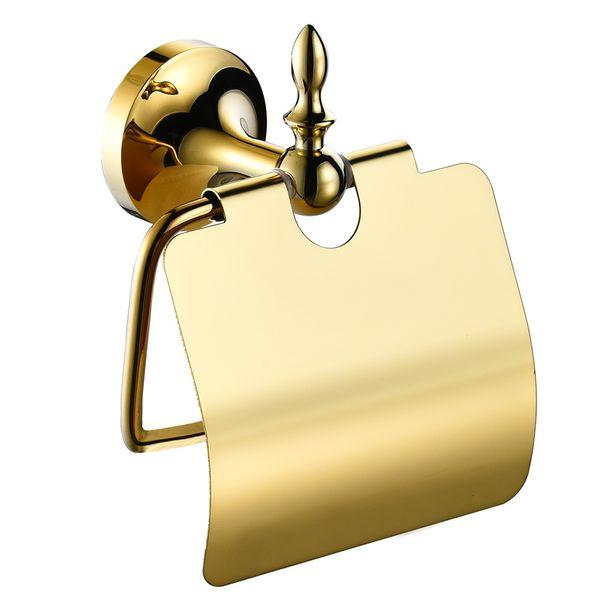 Luxus Toilettenpapierhalter Toilettenpapier Halter Massiv Wandmontage Sanlingo Gold – Bild 1