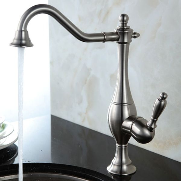 Sanlingo Nostalgia Retro Single Lever Kitchen Water Tap Stainless Steel Look – Bild 1