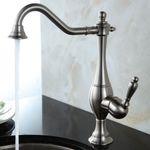 Sanlingo Nostalgia Retro Single Lever Kitchen Water Tap Stainless Steel Look 001