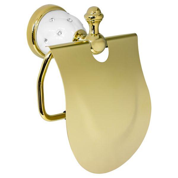 Luxury Toilet Paper Roll Holder Massive Gold Bathroom Sanlingo