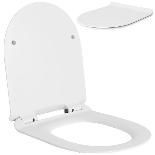 Soft Close Toilet Seat Lid Stable Easy Cleaning White 9 Models Selection Sanlingo – Bild 2