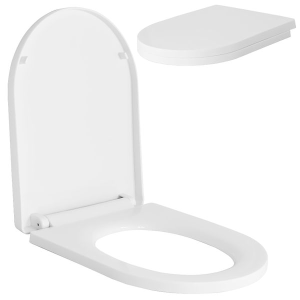Soft Close Toilet Seat Lid Stable Easy Cleaning White 9 Models Selection Sanlingo – Bild 11