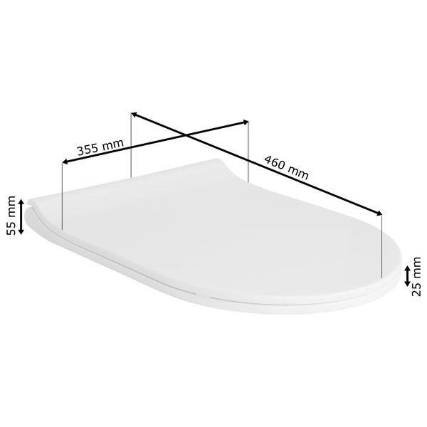 Soft Close Toilet Seat Lid Stable Easy Cleaning White 9 Models Selection Sanlingo – Bild 15
