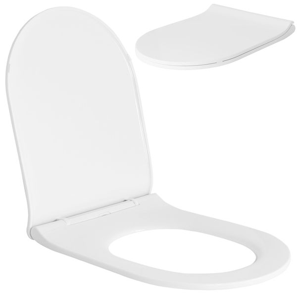 Soft Close Toilet Seat Lid Stable Easy Cleaning White 9 Models Selection Sanlingo – Bild 14