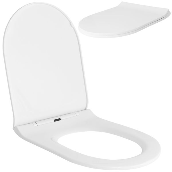 Soft Close Toilet Seat Lid Stable Easy Cleaning White 9 Models Selection Sanlingo – Bild 20
