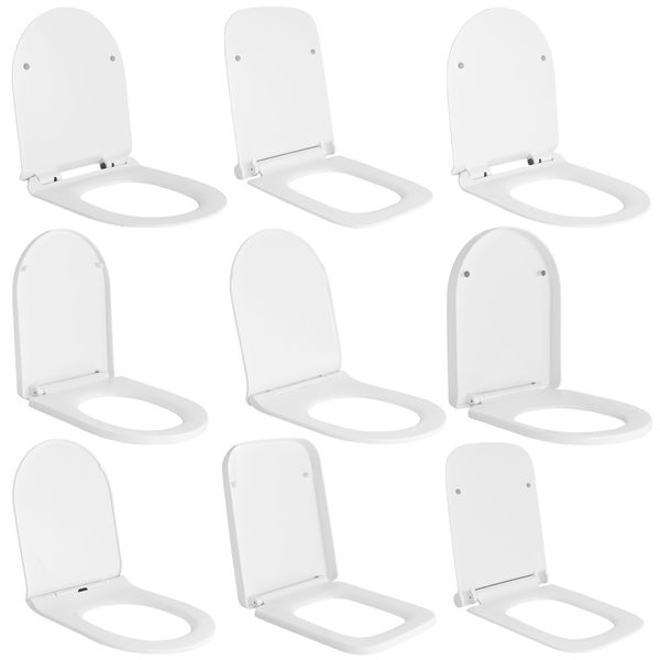 Soft Close Toilet Seat Lid Stable Easy Cleaning White 9 Models Selection Sanlingo – Bild 1