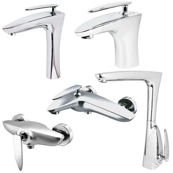Armatur Wasserhahn Mischbatterie Bad Badewanne Unterputz Waschbecken Wasserfall Auswahl Sanlingo – Bild 1