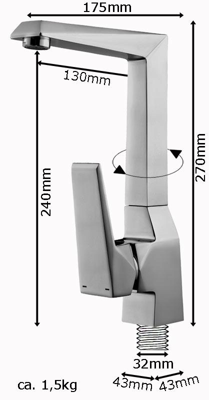 Tap Faucet Sink Mixer Tap Bathroom Kitchen Sink Selection Sanlingo – Bild 5