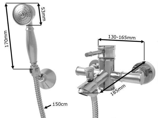Tap Faucet Mixer Bath Bathtub Concealed Sink Selection Sanlingo – Bild 8