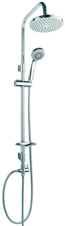 Design Shower head Bar Rainshower Handshower Soap Dish Bath Chrome – Bild 1