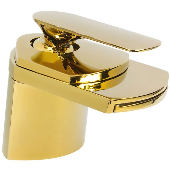 Big waterfall bath basin tap taps GOLD design – Bild 1