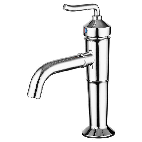 Design Retro Nostalgie Massiv Waschbecken Einhebel Armatur Chrom Sanlingo