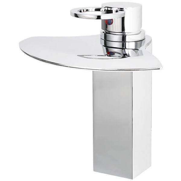 Chrome finsih square waterfall bath basin tap – Bild 1