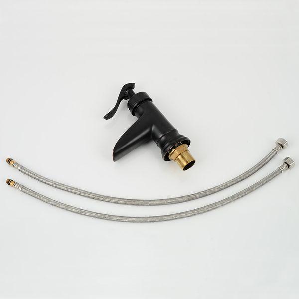 Nostalgia Retro Bathroom Basin Single Lever Pump Tap Black Bronze Sanlingo – Bild 4