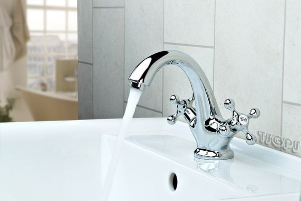Traditional Chrome Cross Head Mono Basin Mixer Tap! – Bild 1