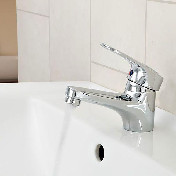 Waschbecken Einhebel Armatur Klassisch Verchromt Wasserhahn Simple