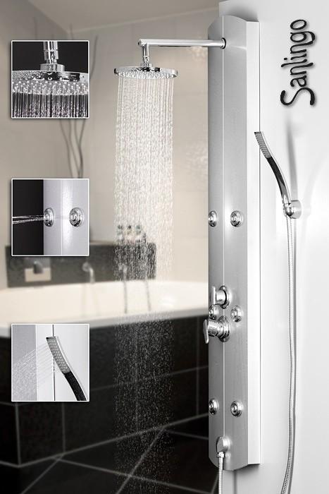 Silver Aluminium Shower Panel Shower Column Sanlingo – Bild 2