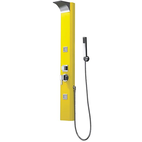 Yellow Aluminium Shower Panel Column Waterfall Rainshower Massage from Sanlingo – Bild 2