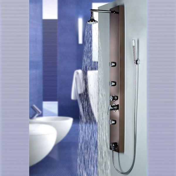 Gold Bronze Mirror Stainless Steel Shower Panel Shower Column from Sanlingo – Bild 1