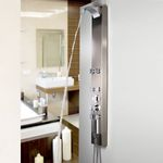 Stainless Steel shower panel colum with massage jets and Anti-Fingerprint from Sanlingo 001