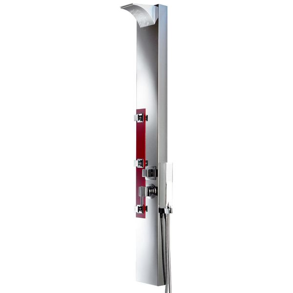 RED SILVER MIRROR STAINLESS STEEL SHOWER PANEL SANLINGO – Bild 2