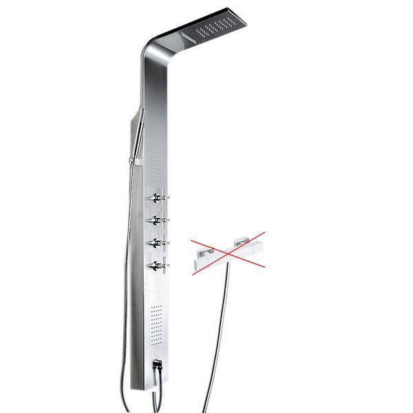 Duschpaneel für Brauseanschluss Gebürsteter Edelstahl Duschsäule mit Massagedüsen und Wasserfall von Sanlingo – Bild 2