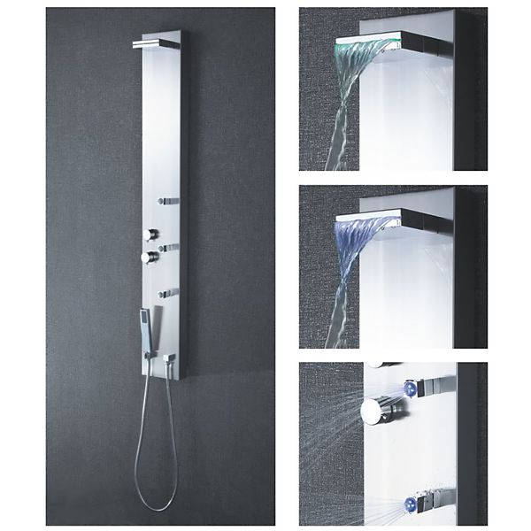 Stainless Steel Shower Panel with Massage jets from Sanlingo with LED – Bild 3