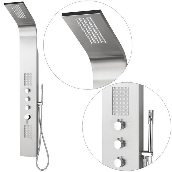 Superior Stainless Steel LED Shower Panel Massage Rainshower Sanlingo – Bild 1