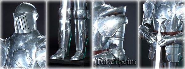 Ritter 185cm Ritterrüstung mit Sockel – Bild 2