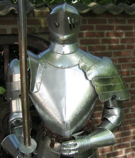 Ritterrüstung mit Hellebarde 193cm / Feldrüstung / Ritter / Mittelalter – Bild 6