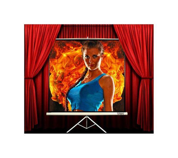 TSGPS PROFI Stativleinwand - 1,78 m x 1,78 m (251 cm Diagonale) - alle Formaten einstellbar - HDTV und Full HD geeignet