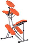 Aluminium Massagestuhl mit Tasche ORANGE 8kg - TSGPS Kingpower 001