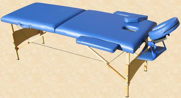 Massageliege / Massagebank in Blau mit viel Zubehör Topqualität