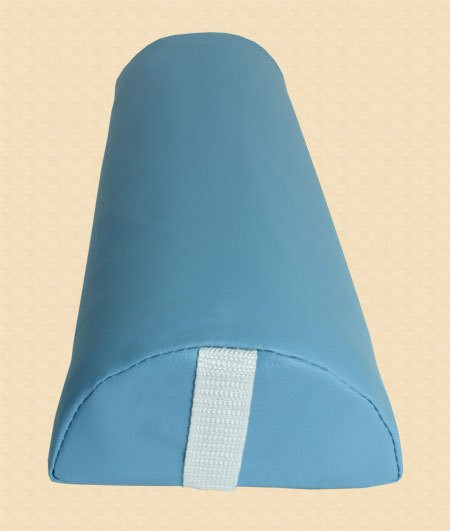 Halbrolle Knierolle Nackenrolle Massage Therapie Rolle hellblau babyblau – Bild 2